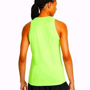 Nike Sports Tank Fit Dry Lime Green Small